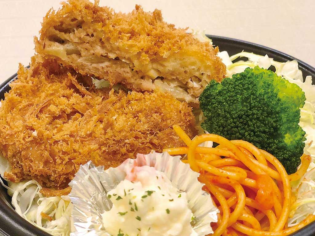 安曇野放牧豚の自家製メンチカツ丼 500円+税